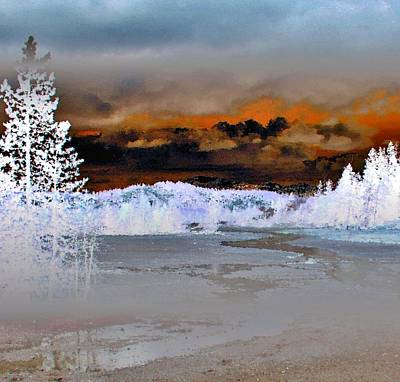 Geyser Digital Art - Norris Geyser Basin Abstract by Ellen Heaverlo