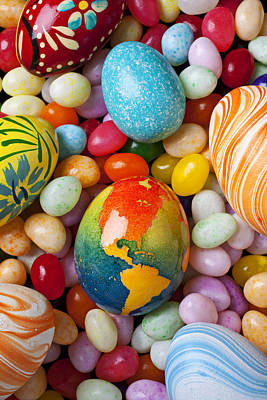 North America Easter Egg Print by Garry Gay