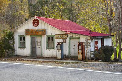 North Carolina Country Store And Gas Station Print by Bill Swindaman