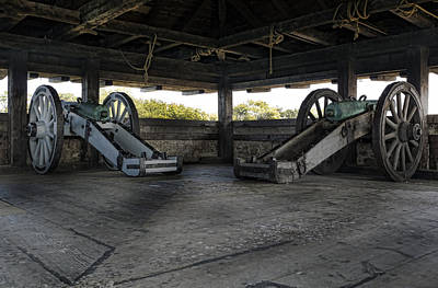 Blacksmiths Photograph - North Redoubt Cannons by Peter Chilelli