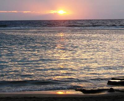 North Shore Sunset Print by Sharon Farris