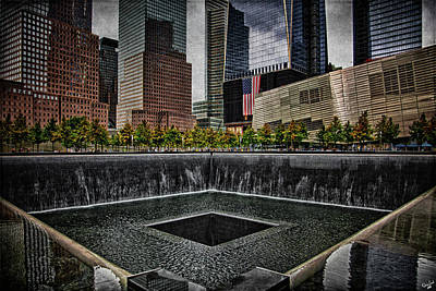 Ground Zero Digital Art - North Tower Memorial by Chris Lord
