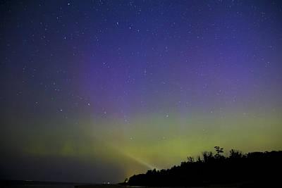 Northern Lights In Muskegon Mi Print by Joe Gee