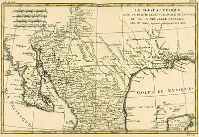 Border Drawing - Northern Mexico by Guillaume Raynal