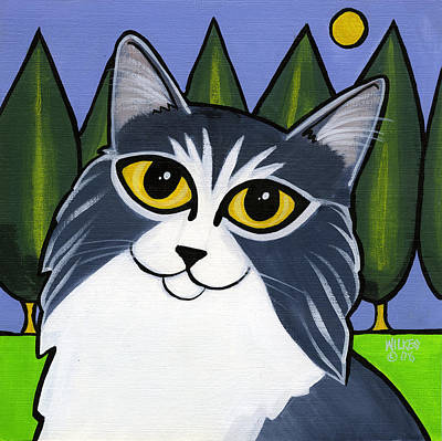 Cat Painting - Norwegian Forest Cat by Leanne Wilkes