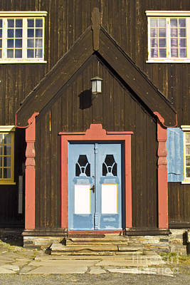 Architecture Photograph - Norwegian Wooden Facade by Heiko Koehrer-Wagner