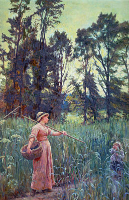Innocence Painting - Not Far To Go by Frederick Morgan