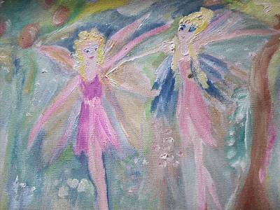 Not So Dizzy Fairies Original by Judith Desrosiers