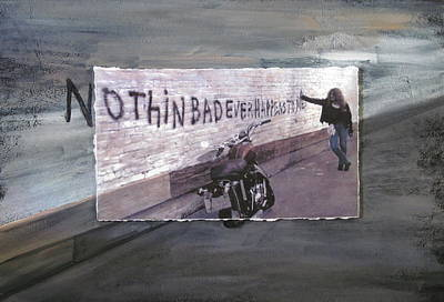 Red Head Mixed Media - Nothin Bad Ever Happens To Me by Anita Burgermeister