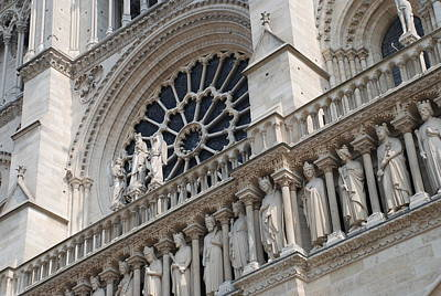 Paris Photograph - Notre Dame Details by Jennifer Ancker