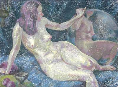 Nude Painting - Nu 39 by Leonid Petrushin