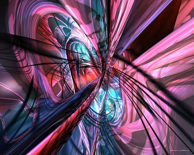 Abstract Digital Art - Nu Tron Shade Fx  by G Adam Orosco