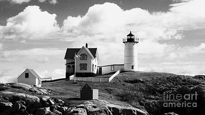 Digital Art - Nubble Lighthouse - Cape Neddick Maine by Christy Bruna