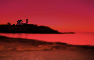 Lighthouse Photograph - Nubble N Pink by Emily Stauring