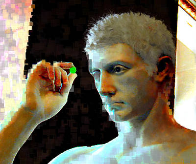 Bison Digital Art - Nude Face by Ilias Athanasopoulos