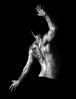 Nude Man Print by Sumit Mehndiratta