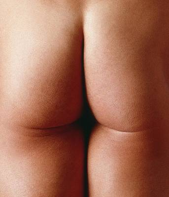 Nude Man's Buttocks Print by Cristina Pedrazzini