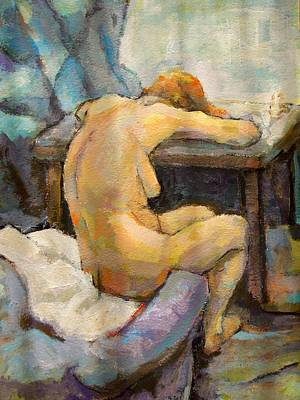 Depression Painting - Nude Painting 1 by Alfons Niex