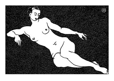 Nude Sketch 54 Print by Leonid Petrushin