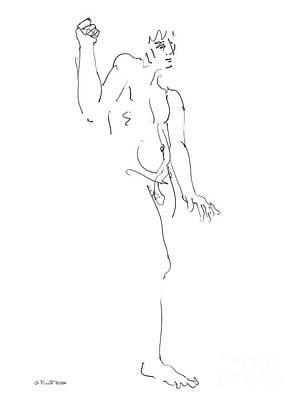 Male Nude Drawing Drawing - Nude_male_drawing_26 by Gordon Punt