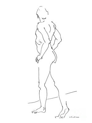 Male Nude Drawing Drawing - Nude_male_drawing_28 by Gordon Punt