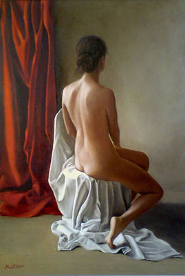 Quadri Painting - Nudo Di Schiena by Gianluca Mantovani