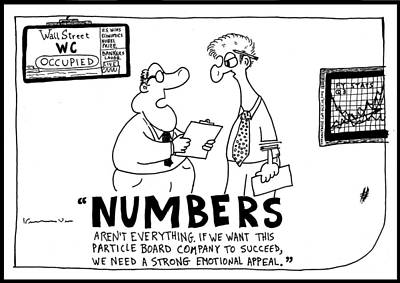 Occupy Drawing - Numbers In Business by Yasha Harari