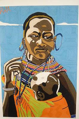 Nurturing Print by Richmond Agbesi