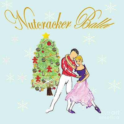 Nutcracker Ballet Romance Print by Marie Loh
