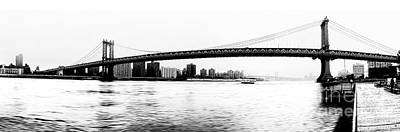 Nyc - Manhattan Bridge Print by Hannes Cmarits