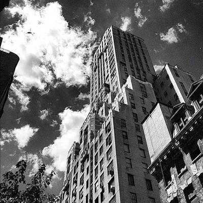 Helicopter Photograph - Nyc Helicopter Bw by Nick Valenzuela