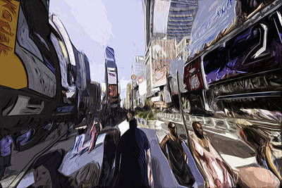 Nyc Impression Print by Robert Ponzoni