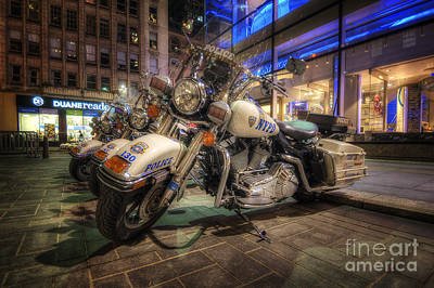 Nypd Photograph - Nypd Bikes by Yhun Suarez