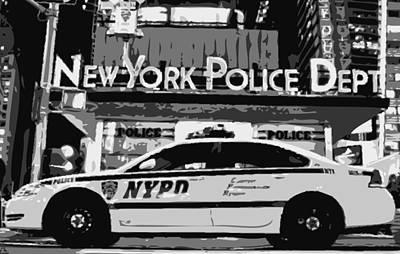 Police Cars Digital Art - Nypd Bw8 by Scott Kelley
