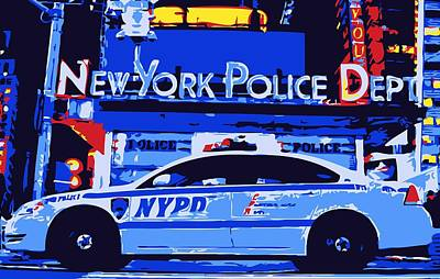 Police Car Digital Art - Nypd Color 6 by Scott Kelley