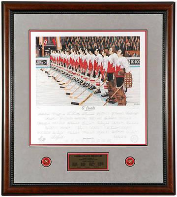 Art Of Hockey Mixed Media - O Canada by Daniel Parry