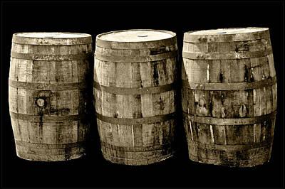 Wine Photograph - Oak Barrel Yellow Tint by LeeAnn McLaneGoetz McLaneGoetzStudioLLCcom