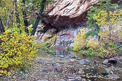 West Fork Digital Art - Oak Creek Canyon Wall by Brian Lambert