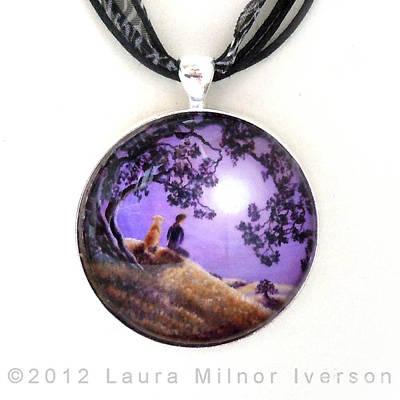 Oak Tree Meditation Pendant Original by Laura Iverson