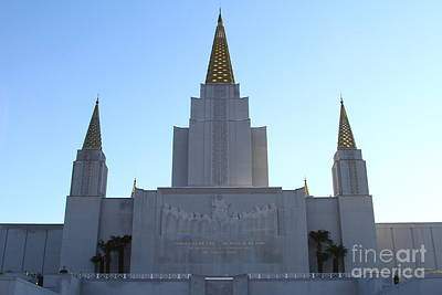 Oakland California Temple . The Church Of Jesus Christ Of Latter-day Saints . 7d11326 Print by Wingsdomain Art and Photography