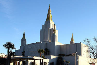 Oakland California Temple . The Church Of Jesus Christ Of Latter-day Saints . 7d11375 Print by Wingsdomain Art and Photography