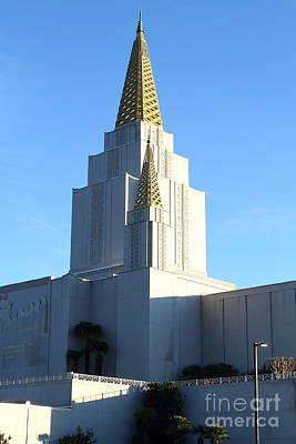 Oakland California Temple . The Church Of Jesus Christ Of Latter-day Saints . 7d11377 Print by Wingsdomain Art and Photography