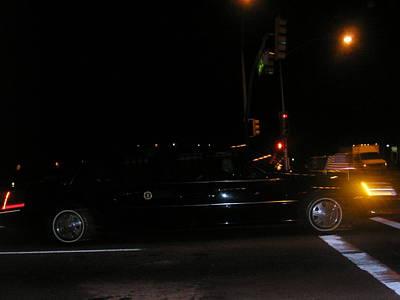 Obama's Car Leaves Tucson Print by Jayne Kerr