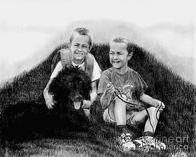 Obrien Brothers And Their Dog Print by Carliss Mora