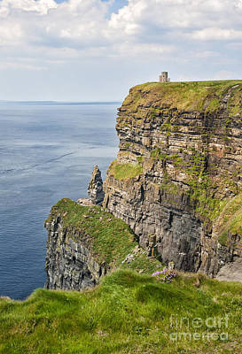 O'brien's Tower At Cliffs Of Moher Print by Cheryl Davis