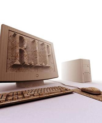 Obsolete Computer, Computer Artwork Print by Christian Darkin