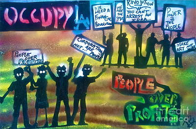 Conscious Painting - Occupiers Unite by Tony B Conscious