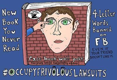 Occupy Drawing - Occupy Frivolous Lawsuits Cartoon by Yasha Harari