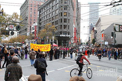 Occupy Photograph - Occupy Sf . 7d9733 by Wingsdomain Art and Photography