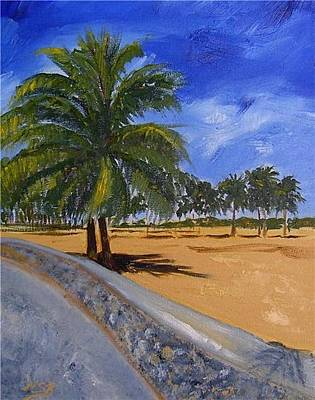 Painting - Ocean Drive Palms by Maria Soto Robbins